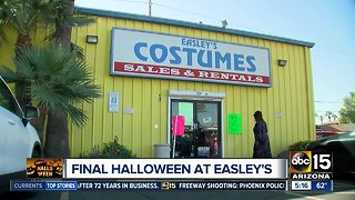 Easley's costume store closing after 72 years