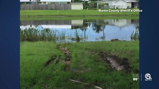 Man running from deputy dies after driving into pond in Stuart