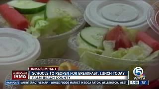 Palm Beach, St. Lucie schools offer free meals after Hurricane Irma - Video