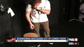 Businessman Kicked out of Comedy Show - Video