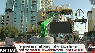 Preparations underway in downtown Tampa - Video