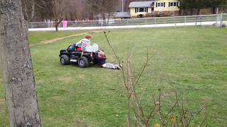 """""""Toddler Boy Loses His Pants While Being Dragged by Power Wheels"""""""