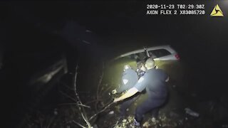 Alliance police rescue woman from sinking van after she fell asleep behind the wheel