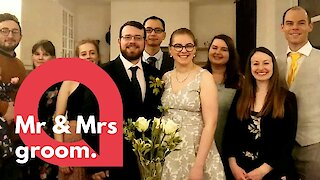 Last couple in the UK get married before the coronavirus crackdown