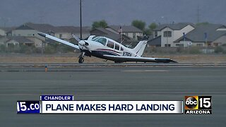 Plane makes hard landing at Chandler Airport
