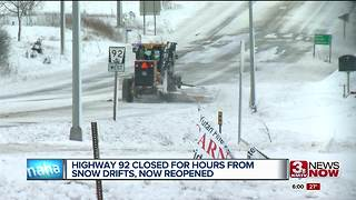 Highway 92 now open after blizzard