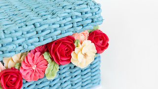 Basket of flowers cake - Video