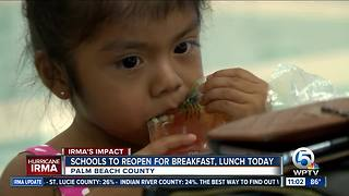 Area schools serve breakfast, lunch despite classes canceled for Irma - Video