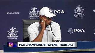 Tiger Woods center of attention at PGA