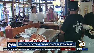 No reopen date for dine-in service at restaurants