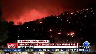 Lake Christine Fire prompts additional evacuations - Video