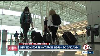 Southwest offers new nonstop flight from Indianapolis to Oakland - Video
