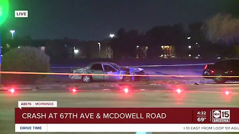 Serious crash reported at 67th Avenue and McDowell Road