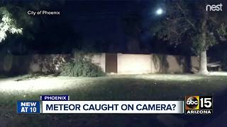 Viewer video of meteor in Phoenix - Video