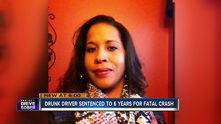 Drunk driver who killed mother of 2 sentenced to 6 years in prison