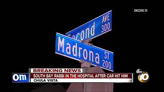 South Bay Rabbi in the hospital after car hit him - Video