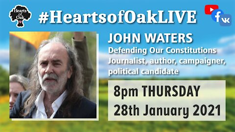 John Waters joins Peter to discuss defending our constitutions in these uncertain times . 28.1.21