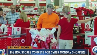 Big Box stores compete for Cyber Monday shoppers - Video