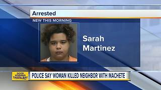 Woman brutally murdered neighbor with machete - Video