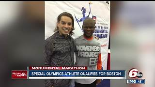 Indianapolis Special Olympics athlete qualifies for Boston Marathon - Video