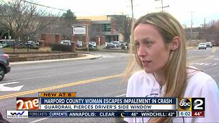 Harford County woman escapes impalement in crash - Video