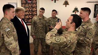 Trump Pays Surprise Visit To Troops Stationed In Iraq