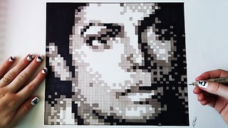 "This Michael Jackson ""Pixel Art"" portrait is simply incredible"