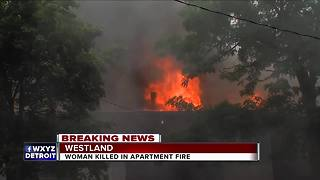 Woman killed in apartment fire in Westland - Video