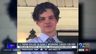 Two Reisterstown teens killed in late night I-695 Beltway crash - Video