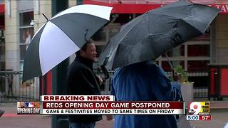 Reds Opening Day postponed - Video