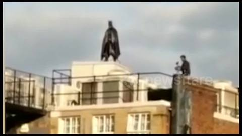 Batman sighted on roof in Aldgate, London