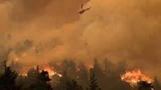 Firefighters Battle Eagle Creek Fire Near Portland - Video