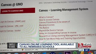Canvas online learning tool available to Nebraska schools