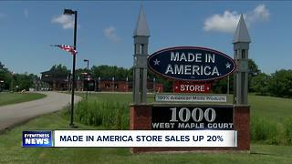 Made in America Store Sales Up This Year - Video