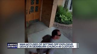 Man accused of setting off explosive device in Dearborn church in custody - Video
