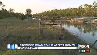 Proposed road could affect homes - Video
