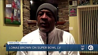 Lomas Brown talks about the Super Bowl