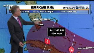 Hurricane Irma strengthens to Category 4 with 130 mph winds - Video