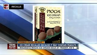 Mikawaya recalls Mochi Ice Cream sold at Trader Joe's due to undeclared peanuts - Video