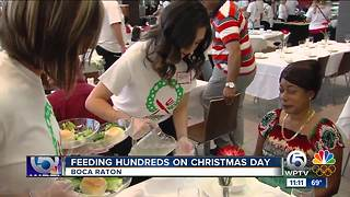 Families in need enjoy Christmas feast in Boca Raton - Video