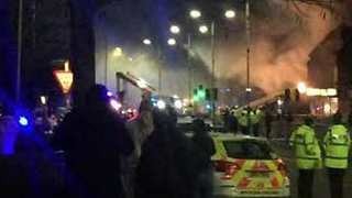 Six Injured Following Explosion, Fire in Leicester - Video