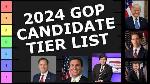 My First 2024 Republican Presidential Candidate Tier List