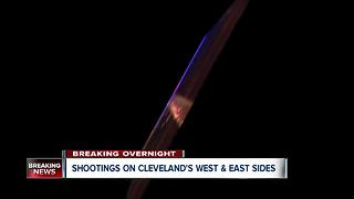 Shootings on Cleveland's West and East Sides - Video