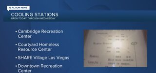 Cooling stations in Las Vegas amid heatwave