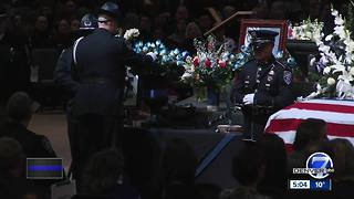 Law enforcement, public honor El Paso Co. Deputy Micah Flick during funeral service