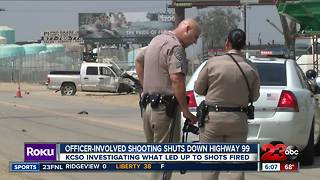 Deadly officer involved shooting by The 99 Freeway
