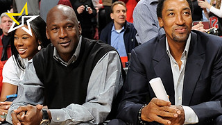 Scottie Pippen Surprises Former Teammate Michael Jordan At Hornets Game - Video
