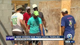 New homes for two families in Boynton Beach - Video