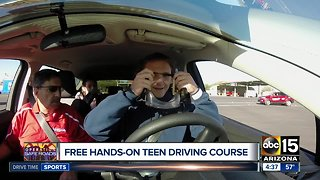 Free hands-on teen driving course