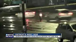 Police look for suspect involved in critical hit-and-run on Detroit's west side - Video